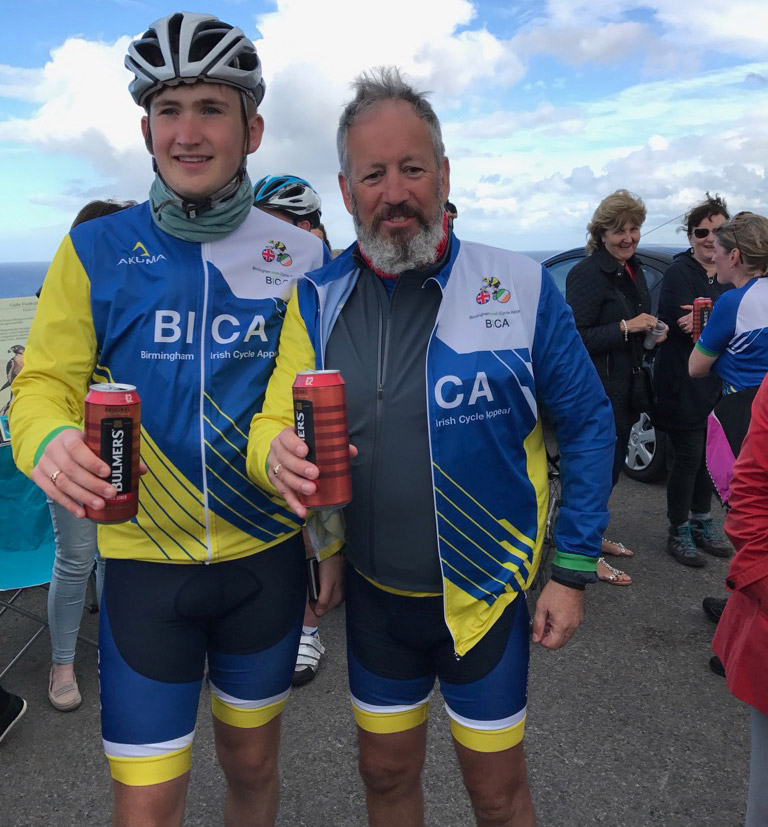 Gerard and Liam pedal ahead for charity
